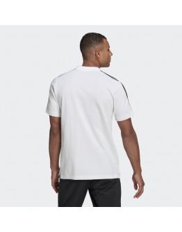 Adidas Aeroready Essentials Pique Embroidered Small Logo 3-Stripes Polo Shirt