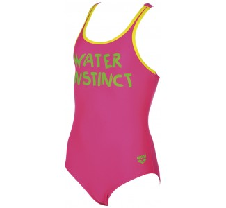 Arena Girl's  SLOGAN JR ONE PIECE