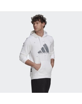 Adidas 3 Bar Ανδρικό Φούτερ με Κουκούλα και Τσέπες