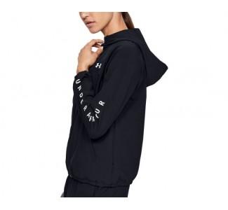 UA Wmn's Woven Branded Full Zip Hoodie
