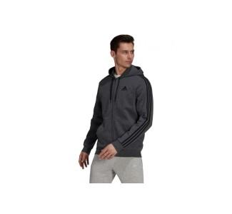 Adidas Essentials Ανδρικό Φούτερ Ζακέτα με Κουκούλα και Τσέπες Fleece
