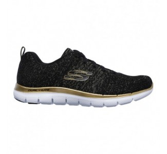 Skechers Metallic Flat Knit Lace-up